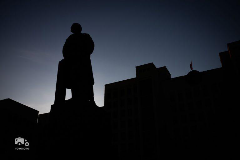 Lenin is looking out on Minsk