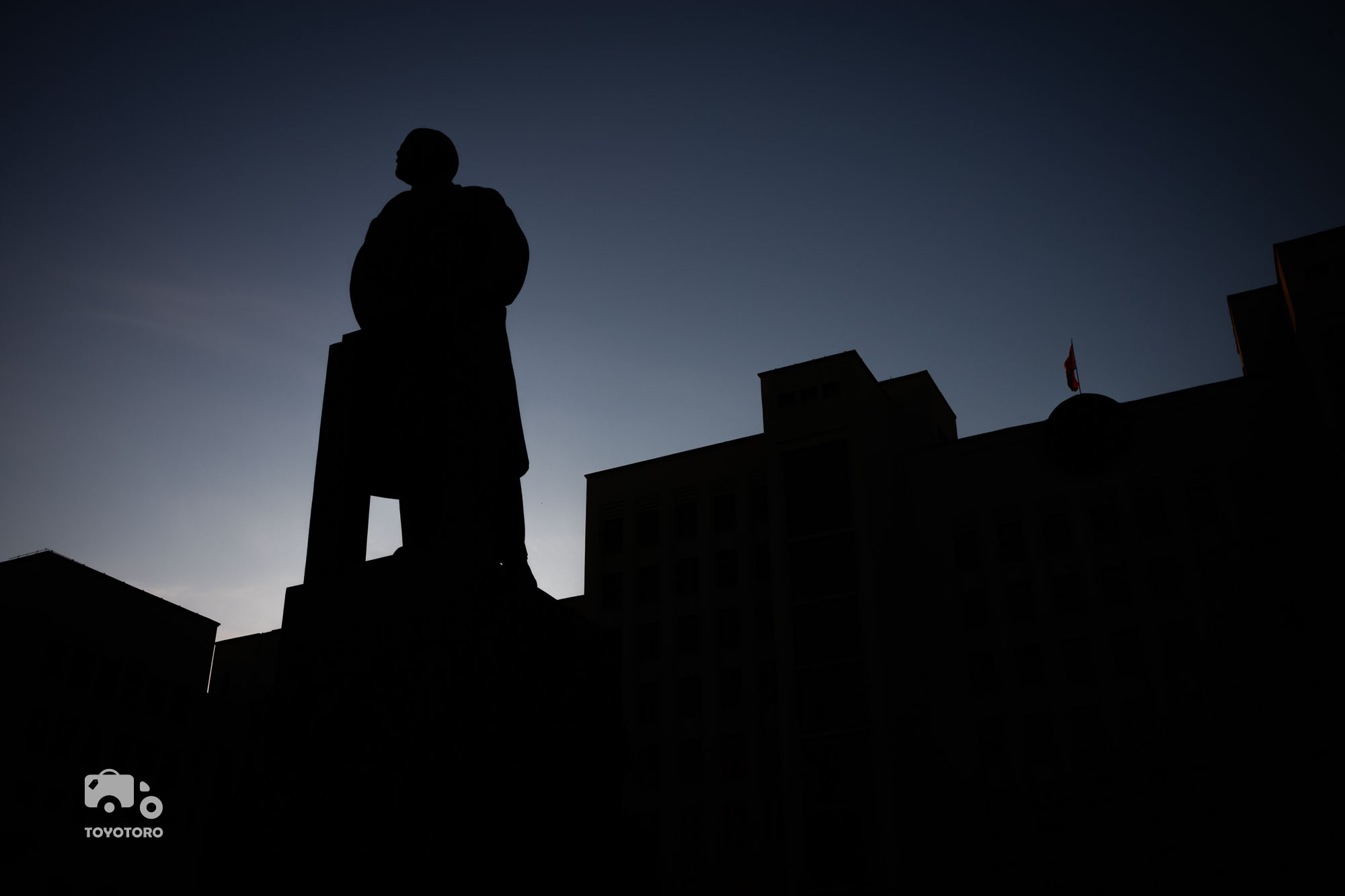 Lenin is looking out on Minsk