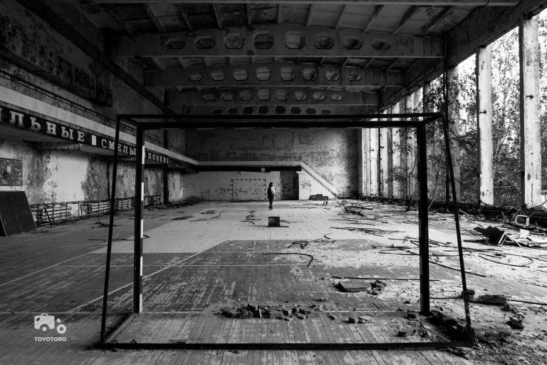 Runan in Pripyat sports hall