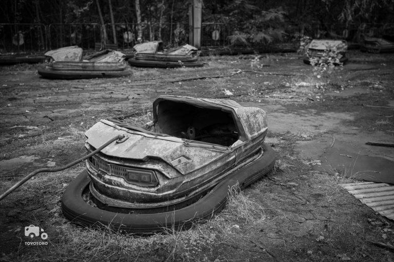 Bumper Car Action in derelict Pripyat
