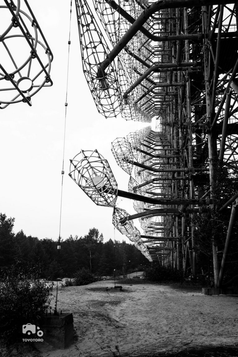 black and white geometry patterns of duga radar